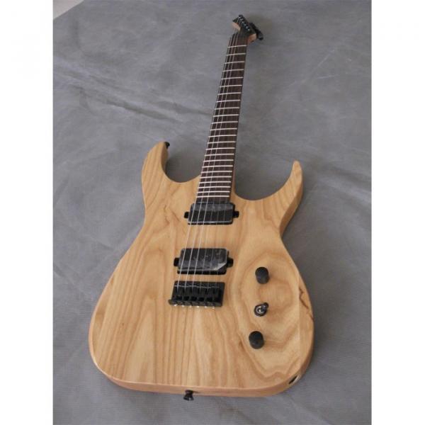 Custom Shop Black Machine 6 String Natural Wood Electric Guitar #5 image
