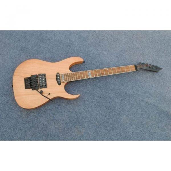 Custom Shop Black Machine 6 String Natural Black Wood Electric Guitar #1 image
