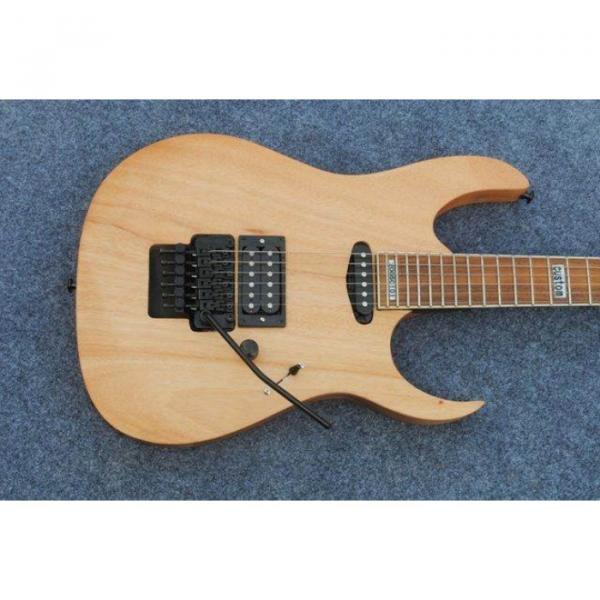 Custom Shop Black Machine 6 String Natural Black Wood Electric Guitar #2 image