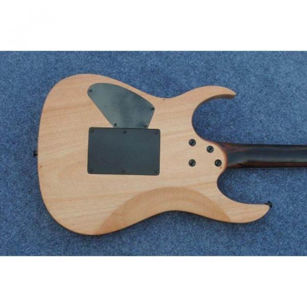 Custom Shop Black Machine 6 String Natural Black Wood Electric Guitar #4 image