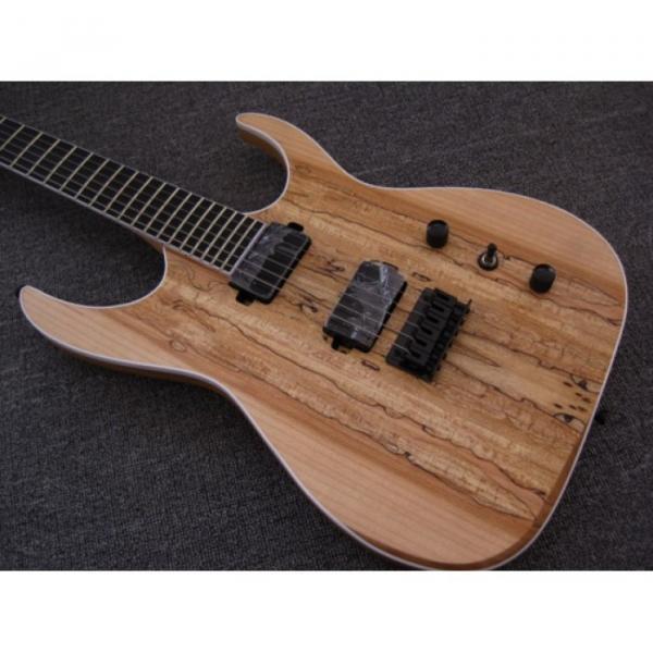 Custom Shop Black Machine 6 String Natural Ash Wood Electric Guitar #1 image