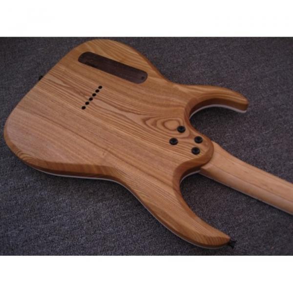 Custom Shop Black Machine 6 String Natural Ash Wood Electric Guitar #3 image
