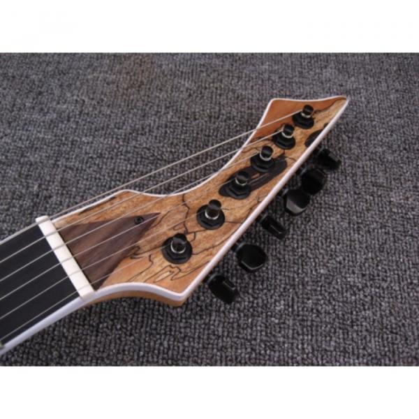 Custom Shop Black Machine 6 String Natural Ash Wood Electric Guitar #4 image