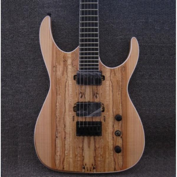 Custom Shop Black Machine 6 String Natural Ash Wood Electric Guitar #5 image