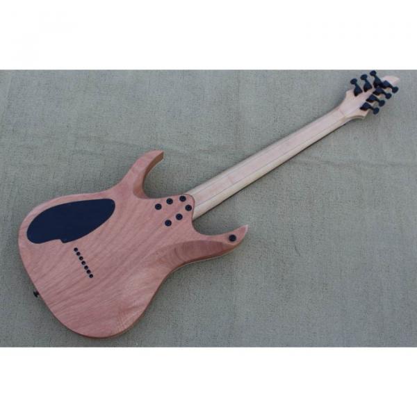 Custom Shop 7 String Birdseye  Natural Electric Guitar Black Machine #4 image