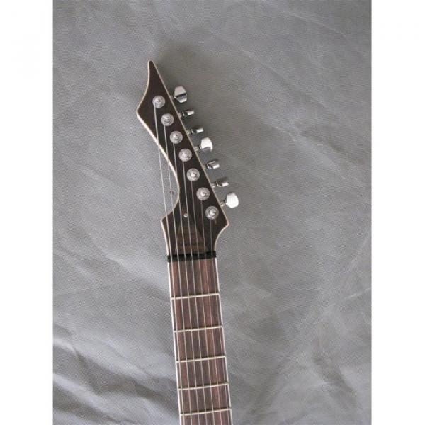 Custom Shop 7 String Natural Birds Eye Electric Guitar  Black Machine #3 image