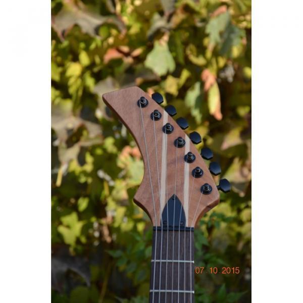 Custom Shop 7 String Honey Amber Finish Electric Guitar Black Machine #2 image