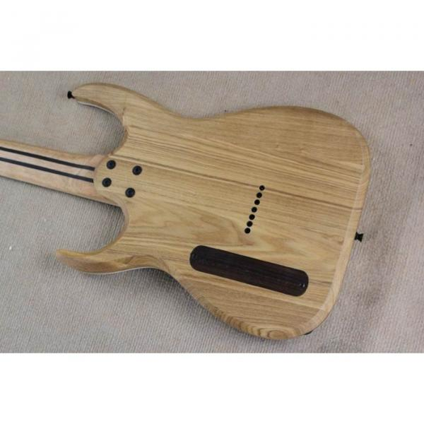 Custom Shop 7 String Black Electric Guitar  Black Machine #4 image
