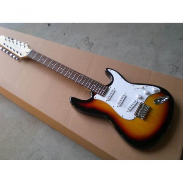 Custom Shop 12 String Stratocaster Sunburst Electric Guitar #2 image