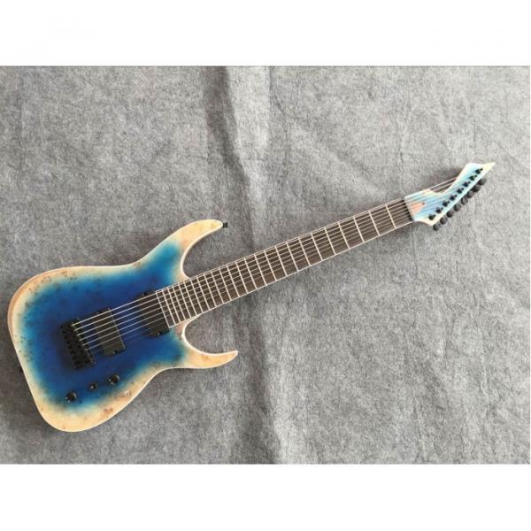 Custom Measurements Black Machine 8 String Natural Wood Black Electric Guitar #1 image