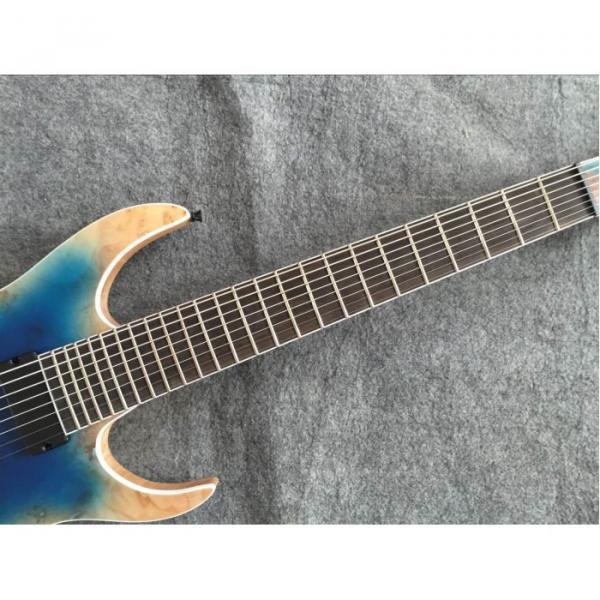 Custom Measurements Black Machine 8 String Natural Wood Black Electric Guitar #5 image