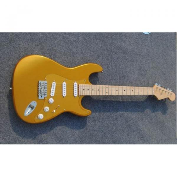 Custom American Stratocaster Gold Electric Guitar #1 image