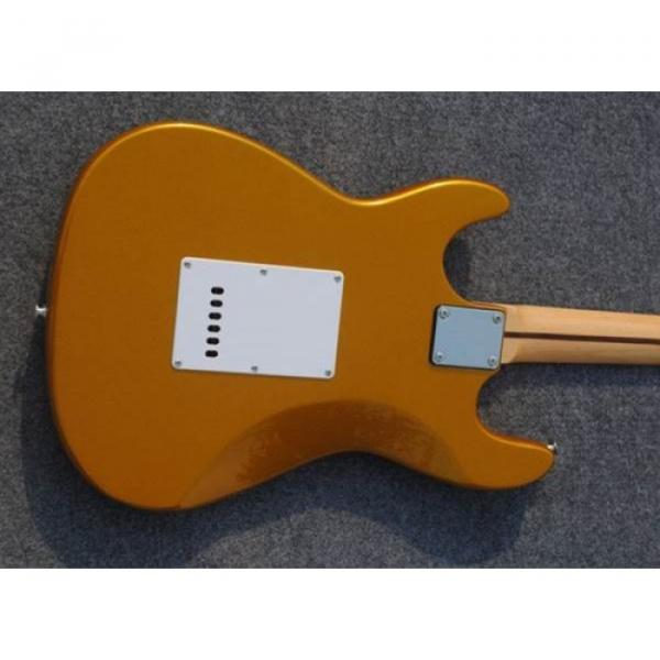 Custom American Stratocaster Gold Electric Guitar #3 image