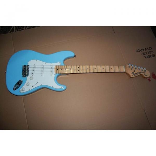 Custom American Stratocaster Daphe Blue Electric Guitar #3 image