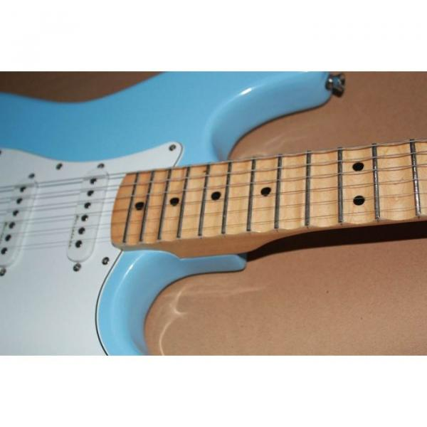 Custom American Stratocaster Daphe Blue Electric Guitar #4 image