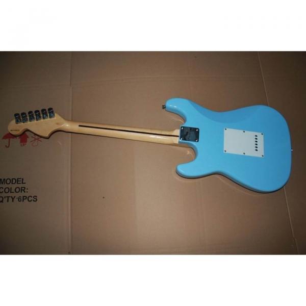 Custom American Stratocaster Daphe Blue Electric Guitar #5 image