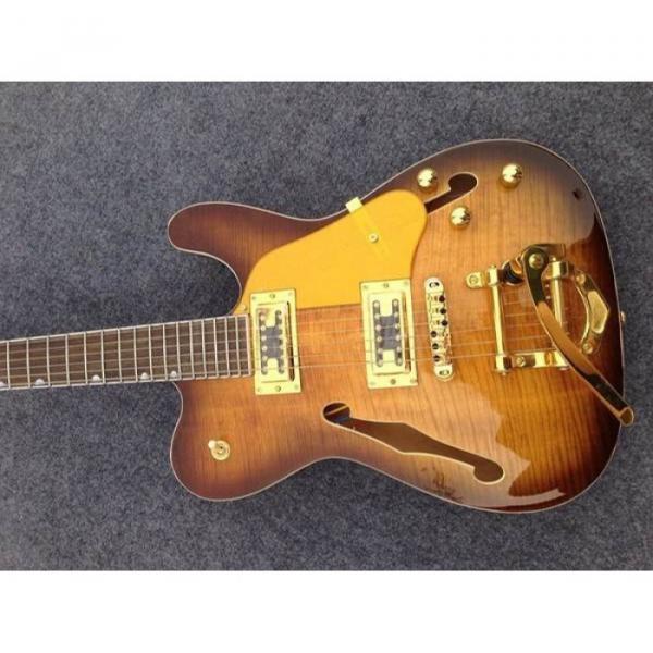 Custom American Standard Telecaster Vintage Flame Maple Top Electric Guitar #1 image