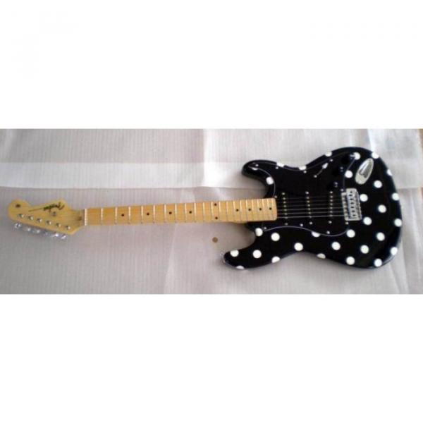 Custom American Buddy Guy Stratocaster Polka Dots Electric Guitar #2 image