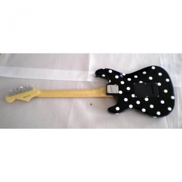 Custom American Buddy Guy Stratocaster Polka Dots Electric Guitar #5 image