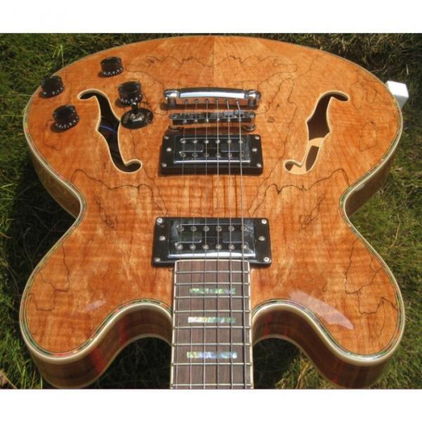 Custom 6 String Languedoc Dead Wood Grain Top Electric Guitar #1 image