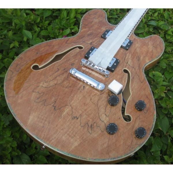 Custom 6 String Languedoc Dead Wood Grain Top Electric Guitar #2 image