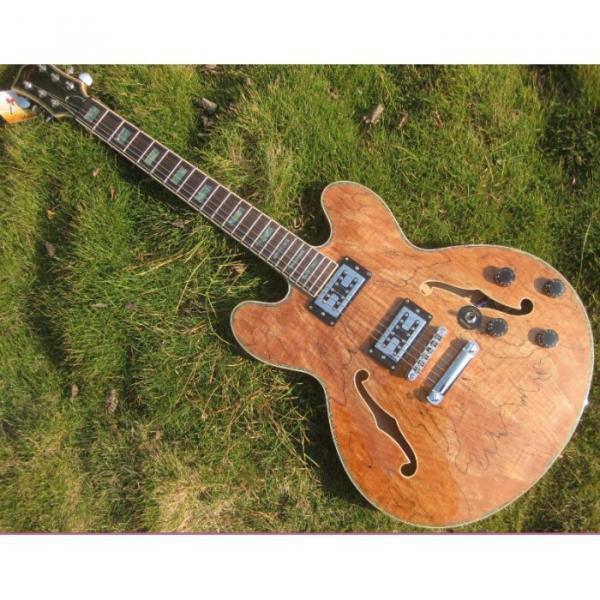 Custom 6 String Languedoc Dead Wood Grain Top Electric Guitar #3 image