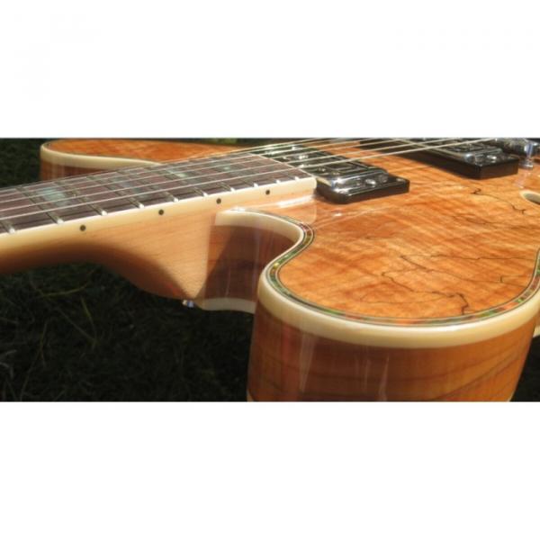 Custom 6 String Languedoc Dead Wood Grain Top Electric Guitar #4 image