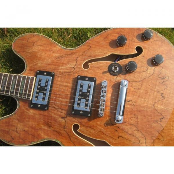 Custom 6 String Languedoc Dead Wood Grain Top Electric Guitar #5 image