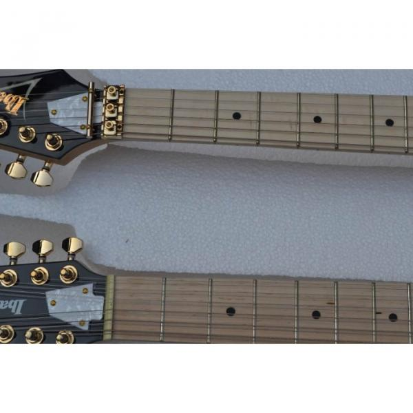 Custom Shop Double Neck Jem Metallic Blue 6 and 12 Strings Electric Guitar #2 image