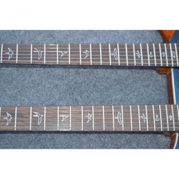 Custom Shop Double Neck 22 6 and 12 Strings Blue PRS Guitar #4 image