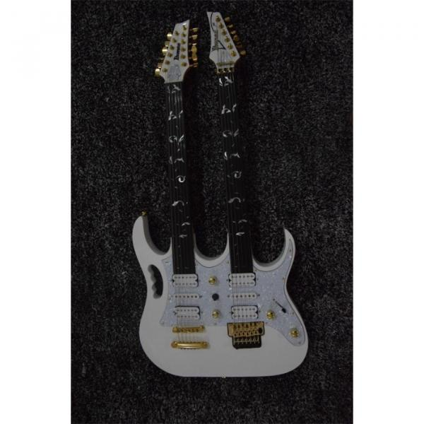 Custom JEM7V White Double Neck 6/12 Strings Guitar #1 image