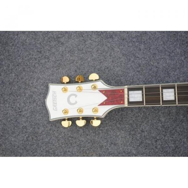 Custom Shop Left Handed White Gretsch Falcon 6120 Jazz Guitar #2 image