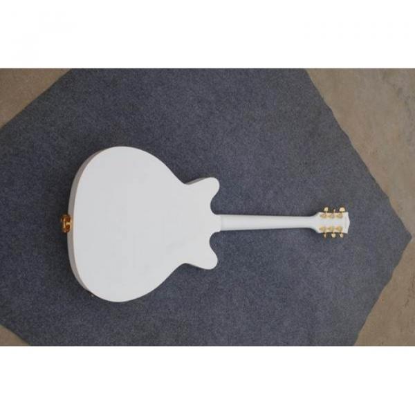 Custom Shop Left Handed White Gretsch Falcon 6120 Jazz Guitar #4 image