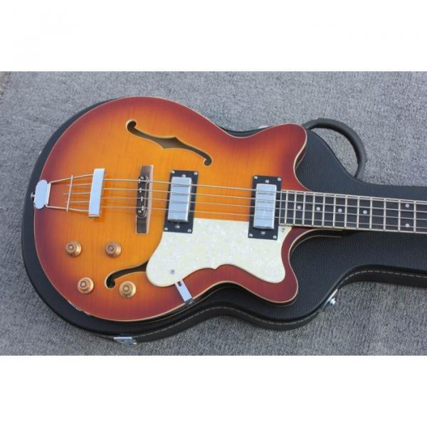 Custom Hofner Tobacco Color Fhole Jazz Electric Guitar #6 image