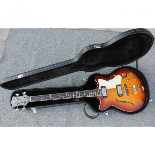 Custom Hofner Tobacco Color Fhole Jazz Electric Guitar #7 image