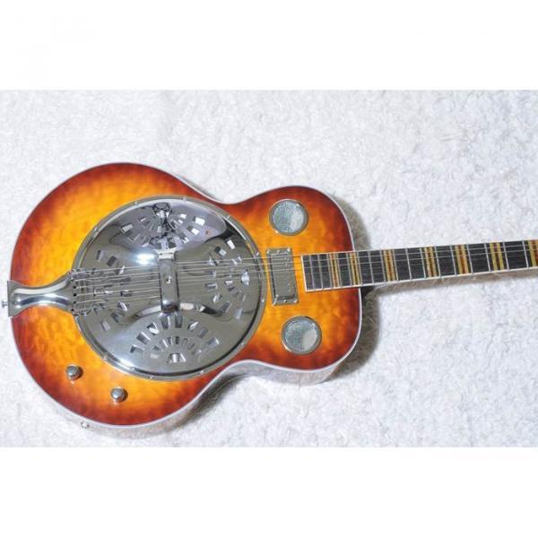 Custom Shop Hofner Sunburst Resonator Guitar #1 image