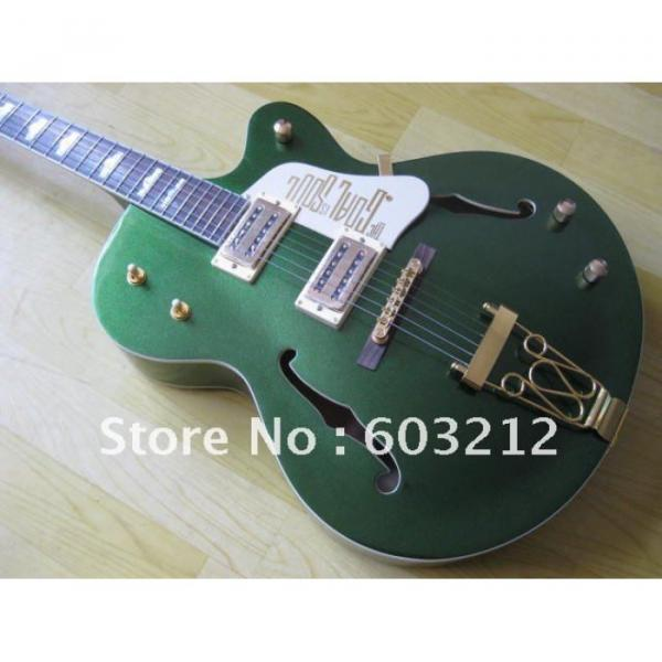 Custom Shop Green Gretsch Nashville Electric Guitar #9 image
