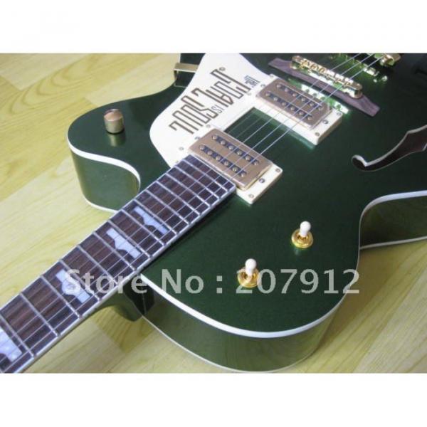 Custom Shop Green Gretsch Nashville Electric Guitar #10 image