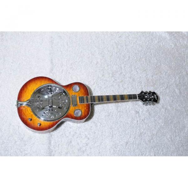 Custom Shop Hofner Sunburst Resonator Guitar #4 image