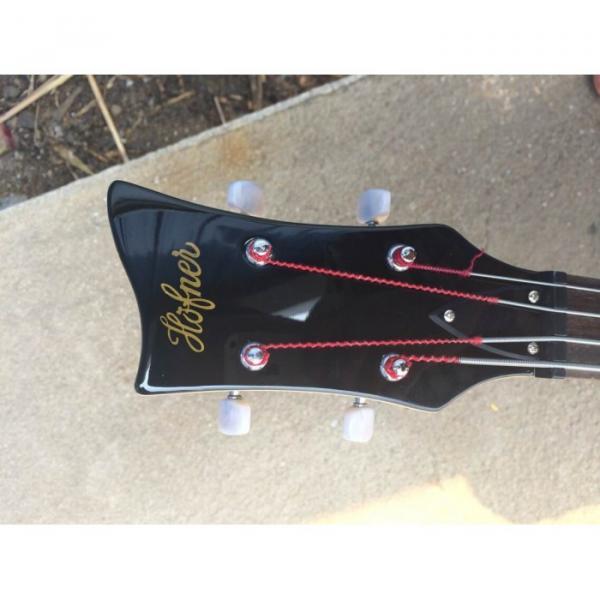 Custom Hofner Jubilee Union Jack Paul Mcartney Violin Bass Guitar #7 image