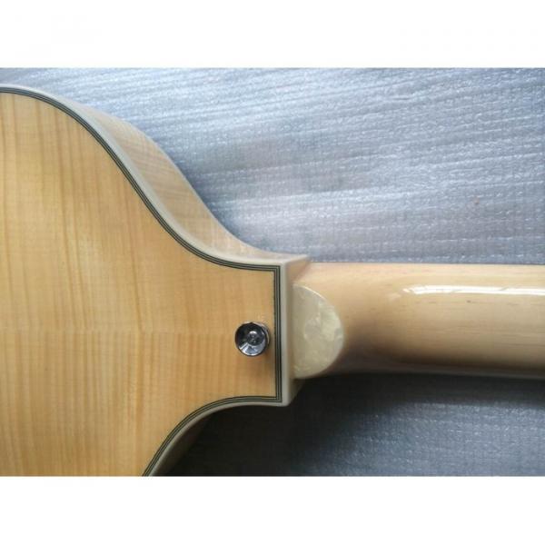 Custom Hofner Jubilee Union Jack Paul Mcartney Violin Bass Guitar #10 image