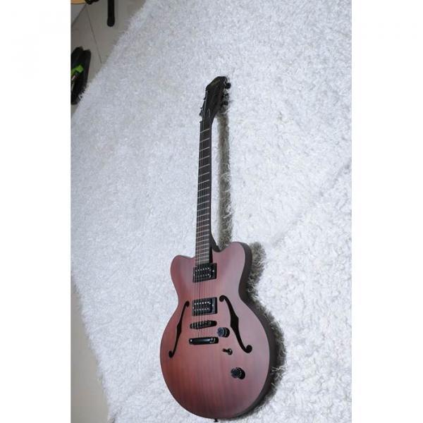 Custom Shop Hofner Fhole Walnut Brown Electric Guitar #6 image