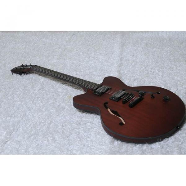 Custom Shop Hofner Fhole Walnut Brown Electric Guitar #7 image