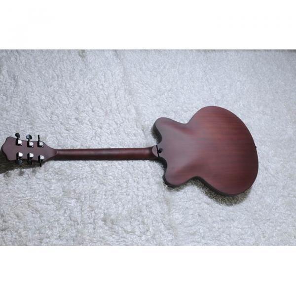 Custom Shop Hofner Fhole Walnut Brown Electric Guitar #8 image