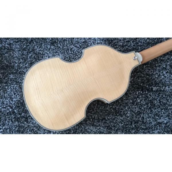 Custom Hofner Jubilee Union Jack Paul Mcartney Violin 4 String Bass Guitar #6 image