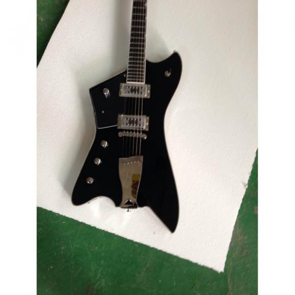 Custom Gretsch  Left Handed G6199 Billy-Bo Jupiter Thunderbird Black Authorized Bridge Guitar #1 image