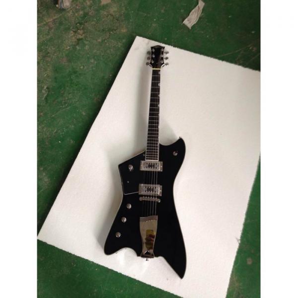 Custom Gretsch  Left Handed G6199 Billy-Bo Jupiter Thunderbird Black Authorized Bridge Guitar #7 image