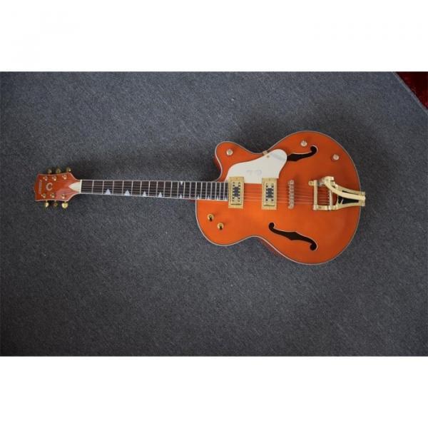 Custom Build Gretsch Orange Horseshoe Brian Setzer Bigsby Guitar #1 image