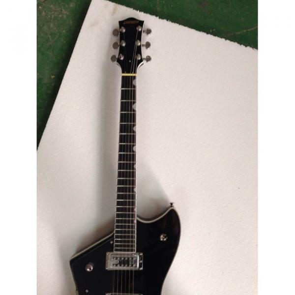 Custom Gretsch  Left Handed G6199 Billy-Bo Jupiter Thunderbird Black Authorized Bridge Guitar #9 image