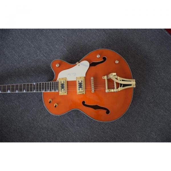 Custom Build Gretsch Orange Horseshoe Brian Setzer Bigsby Guitar #6 image